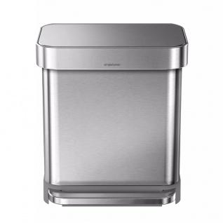 Treteimer Rectangular mit Beutelspender 30 Liter, Simplehuman Edelstahl Fpp