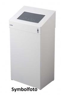 Dan Dryer Classic Design Abfallbehälter 18L in weiß aus Edelstahl mit Klappdeckel