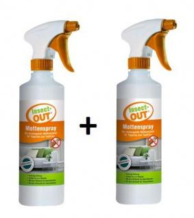 2er Set Insect-OUT® Mottenspray 500 ml mit Lavendelduft hält alle Mottenarten fern