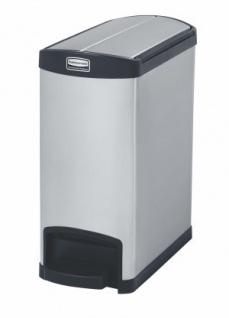 RUBBERMAID Slim Jim® Metall-Tretabfallbehälter mit Pedal an der Schmalseite 30 L - Vorschau 2