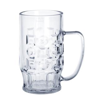 20er Set Bierkrug 0, 4l SAN Glasklar Kunststoff Spülmaschinen fest & lebensmittelecht - Vorschau 1
