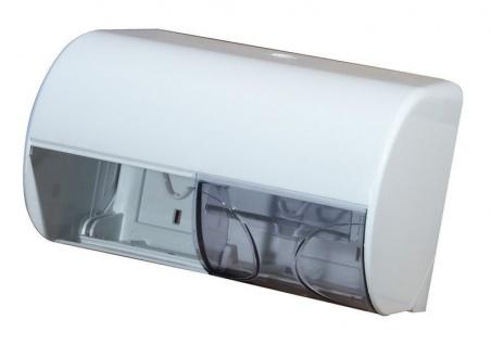 Marplast Doppel Toilettenpapier-Spender in Weiß oder Satin aus Kunststoff
