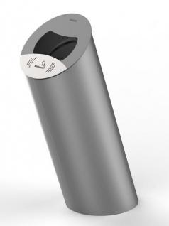 Rossignol Piz Abfallbehälter 85 Liter aus rostfreiem Stahl zum Befestigen