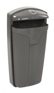 Abfallsammler Cibeles 50 Liter aus Polyethylen zur Wand- oder Pfahlbefestigung