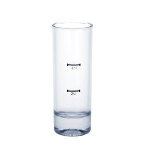 Kunststoff Stamperl hoch gefrostet 2cl /4cl SAN sehr robust und wiederverwendbar