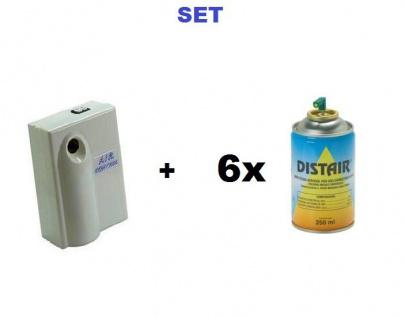 SET Automatischer Spender Air Control Premium + 6x Insektizid Insektenspray Distair 250ml