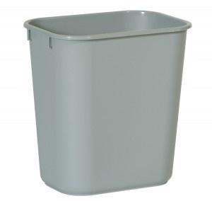 RUBBERMAID Rechteckiger Papierkorb 12, 9 l in Grau oder Blau aus Kunststoff