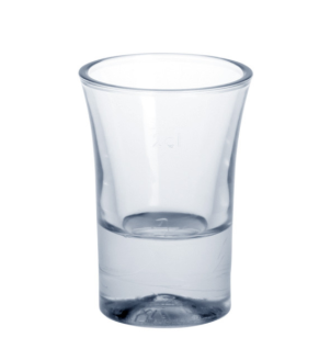 20er Set Schnapsglas 2cl SAN glasklar aus Kunststoff wiederverwendbar