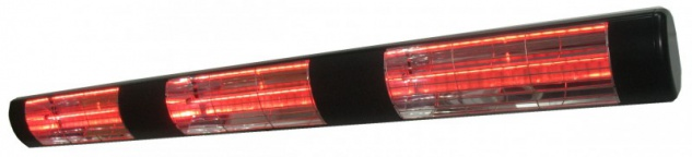 Heatlight Infrarot Heizstrahler schwarz aus Aluminium 4500W für den Außenbereich