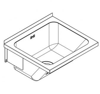 Franke Universalwaschtrog aus Chromnickelstahl ohne Armaturenbank mit mittige Abläufe - Vorschau 3