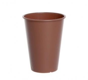 Kunststoff Coffee und Tea Cup 0, 15l transparent oder braun