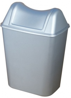 Marplast Abfalleimer Kunststoff Satin 8L in Metall-Optik mit Deckel