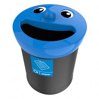 Smiley Face Bin 52 Liter, paper Schwarz, Blau