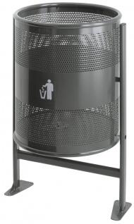 Abfallbehälter 80 Liter auf Ständer aus Metall