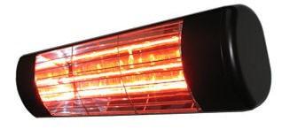 Heatlight schwarzer Infrarot Aluminium Heizstrahler 1500W - für den Außenbereich