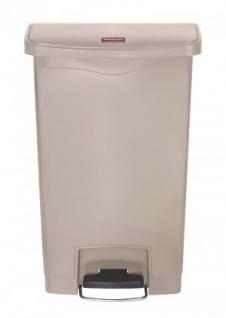 RUBBERMAID Slim Jim® Kunststoff-Tretabfallbehälter mit Pedal an der Breitseite 50 L - Vorschau 1