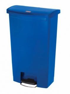 RUBBERMAID Slim Jim® Kunststoff-Tretabfallbehälter mit Pedal an der Breitseite 68 L