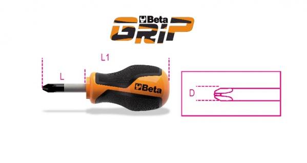 Beta Schraubendreher für Phillips®-Schrauben, extrakurze Klinge 1262N