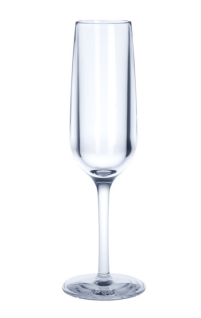 6er Set Mehrweg Champagnerglas 0, 1l PC aus Kunststoff