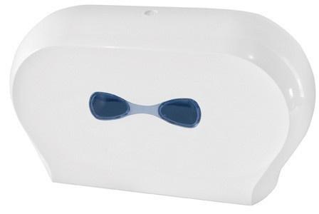 Marplast Doppelte Toilettenpapierspender in Weiß aus Kunststoff MP 773