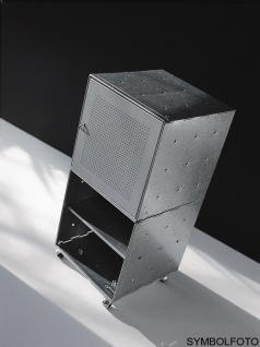 Graepel High Tech italienischer QBO base Würfel aus gebürstetem Edelstahl