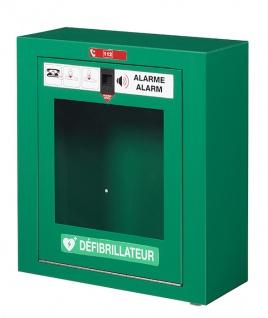 Rossignol Clinix Defibrillatorbox aus pulverbeschichtetem Stahl mit frontaler Öffnung
