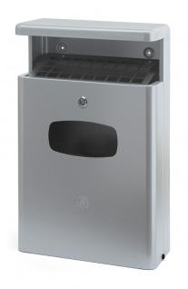 Abfalbehälter für draußen mit Dach 16 Liter