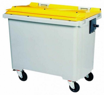 Rossignol Mülltonne ohne Schiene mit 4 Rädern entspricht der Norm EN-840 1 bis 6 - Vorschau 4