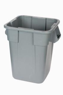 RUBBERMAID Quadratischer BRUTE® Container 151, 4l aus Polyethylen in Weiß oder Grau