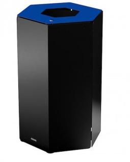 Rossignol Hexatri Abfallbehälter aus Stahl für Abfalltrennung 50L mit Schloss