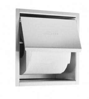 Wagner-EWAR Toilettenpapierhalter WP157 Edelstahl für Unterputzmontage