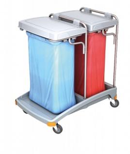 Splast Doppel-Müllentsorgungswagen aus Kunststoff 2 x 120l - Deckel ist optional - Vorschau 2