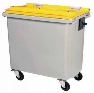 Rossignol Mülltonne ohne Schiene mit 4 Rädern entspricht der Norm EN-840 1 bis 6 - Vorschau 1
