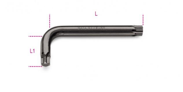 Beta Stiftschlüssel, gebogen, für Torx®-Schrauben 97TX