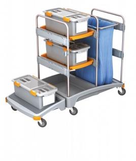Splast Reinigungssystem mit 3 Mopboxen, Regal und Beutelhalter - Abdeckung optional