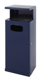 Kombi Ascher - Abfallbehälter 55 Liter für Draußen mit Dach