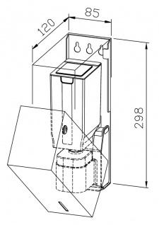 Wagner-EWAR Sensor-Seifenspender 850ml WP102e-1 Edelstahl für Aufputzmontage - Vorschau 2