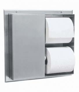 Bobrick B-386 Toilettenpapierspender für 2 Rollen versorgt zwei Toilettenkabinen