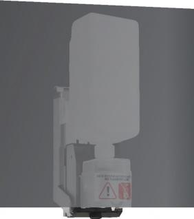 Wagner-EWAR Sensor-Seifenspender hinter Spiegel 950ml WP174e-2 Edelstahl matt