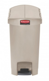 RUBBERMAID Slim Jim® Kunststoff-Tretabfallbehälter mit Pedal an der Schmalseite 30 L