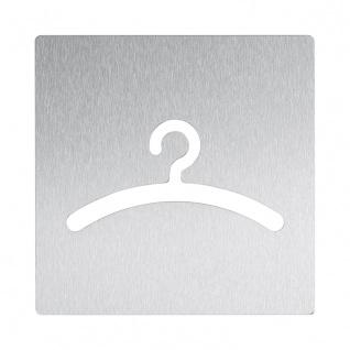 Wagner-EWAR Piktogramm Garderobe AC470 Edelstahl matt geschliffen