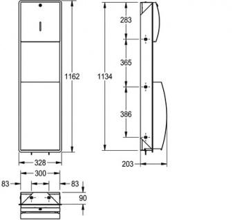 Franke Papierhandtuch- und Abfallbehälter Kombination aus Edelstahl - Vorschau 3