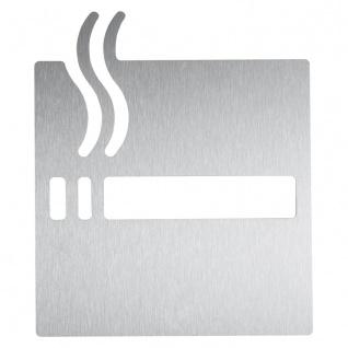 Wagner-EWAR Piktogramm Raucher AC450 Edelstahl matt geschliffen