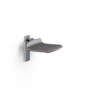 Pressalit hochklappbarer Duschsitz in weiß oder anthrazitgrau, max. Belastung 300 kg