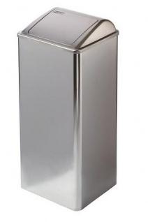Mediclinics Feuerfester Abfallbehälter mit Einwurfklappe, 80 Liter - Vorschau 2