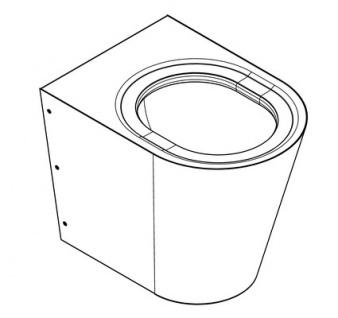 Franke Wand-Boden-WC CMPX597 aus Chromnickelstahl zur Wandmontage - Vorschau 2