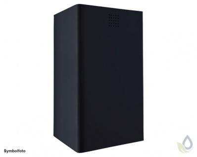 Proox® ONE dark passion hochwertiger Abfallbehälter schwarz 37L Aluminium 300mm