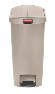RUBBERMAID Slim Jim® Kunststoff-Tretabfallbehälter mit Pedal an der Schmalseite 50 L