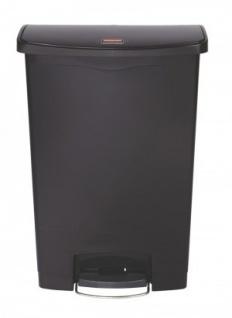 RUBBERMAID Slim Jim® Kunststoff-Tretabfallbehälter mit Pedal an der Breitseite 90 L - Vorschau 5