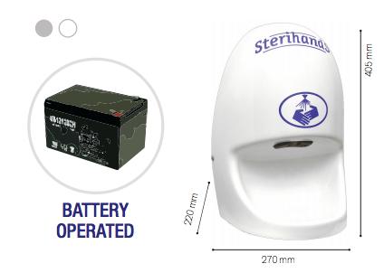 Sterihands aut. Händedesinfektionspender mit Batterie & mobilem Ständer nachfüllbar 1L - Vorschau 2